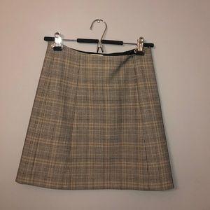 babaton plaid skirt
